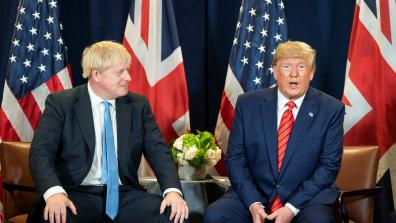President Donald J. Trump participates in a bilateral meeting with British Prime Minister Boris Johnson. Photo: The White House Photo / Shealah Craiughead