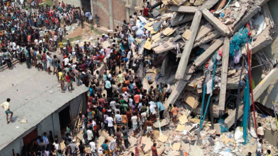 Rana Plaza building collapse, Bangladesh, April 2013 © A.M Ahad/AP/Press Association Images